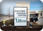 Destiny Surgery internally lighted monument sign in Texas